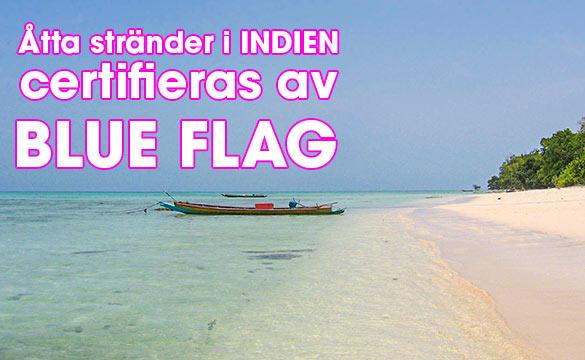Åtta stränder i Indien får Blå flagg-certifikat