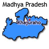 Delstatens placering i Indien