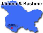 Jammus placering i delstaten Jammu & Kashmir
