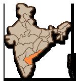 Andhra Pradesh placering i Indien