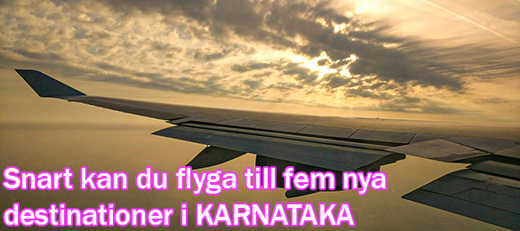 Karnataka bygger fem nya flygplatser