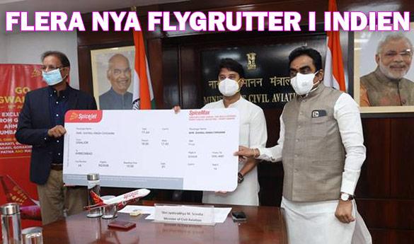 Många nya inrikes flygrutter introducerade i Indien
