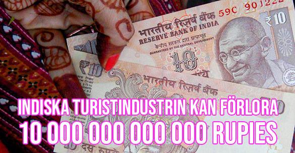 Indiska turistnäringen kan komma att förlora tio biljoner rupies på corona-virus