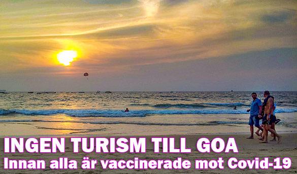 Enbart vaccinerade turister till Goa, Indien?