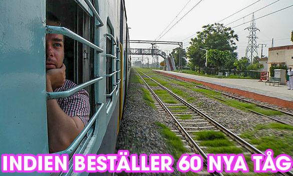 Indien beställer 60 nya tåg