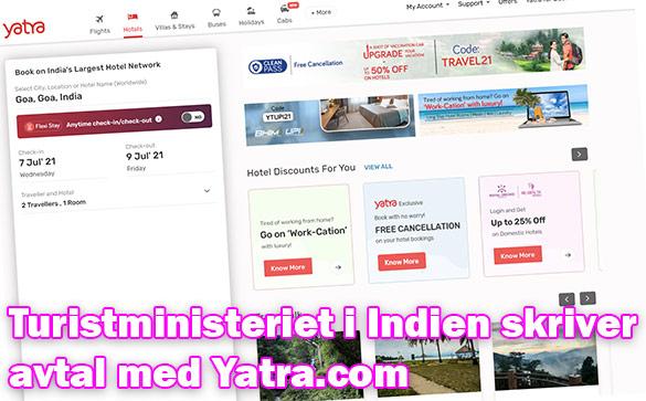Turistministeriet i Indien tecknar samförstsåndsavtal med Yatra.com