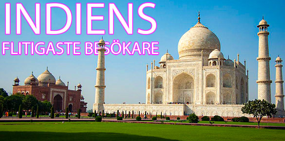 Länderna med flest turister till Indien