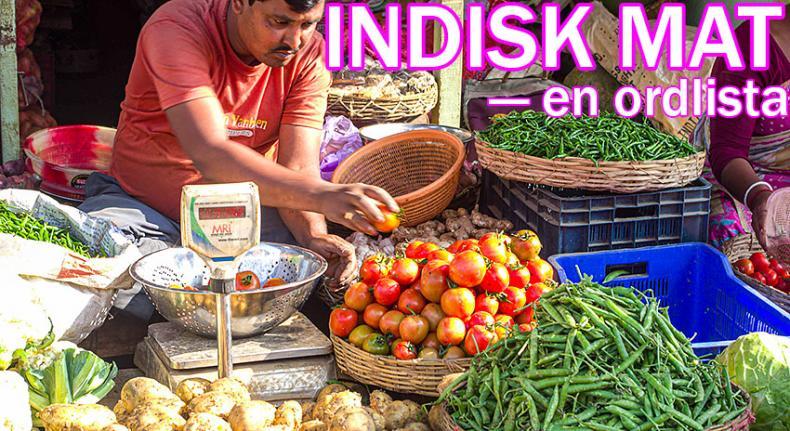 Ordlista för indisk mat och dryck