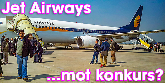 Jet Airways mot konkurs