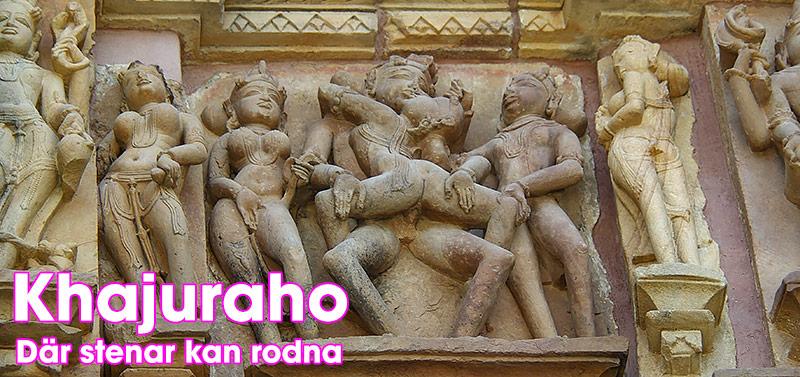 Khajuraho erotiska tempel i Indien