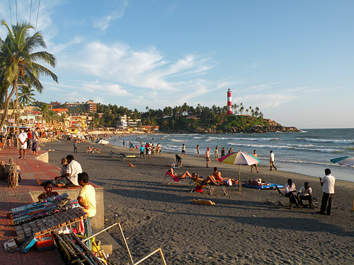Lighthouse Beach i Kovalam
