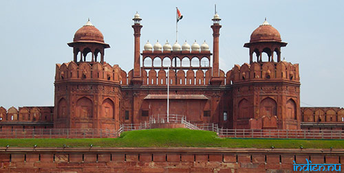 Red fort i Delhi