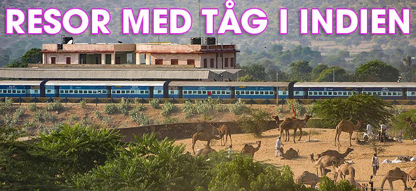 Resor med tåg i Indien