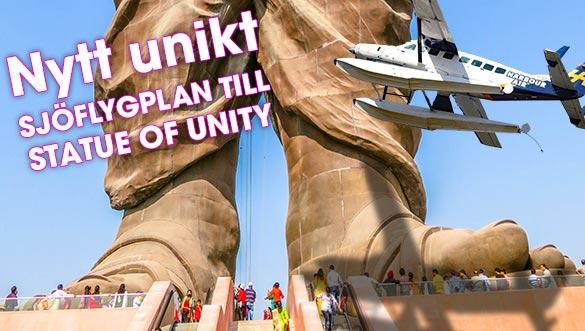Nytt unikt sjöflygplan till Statue of Unity i Gujarat, Indien