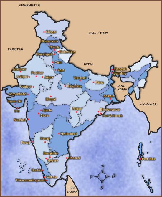 Indiska Varldsarv Sevardheter Och Monument Indien Nu Allt Om