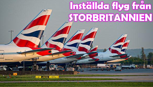 Indien ställer in alla flygningar till och från Storbritannien