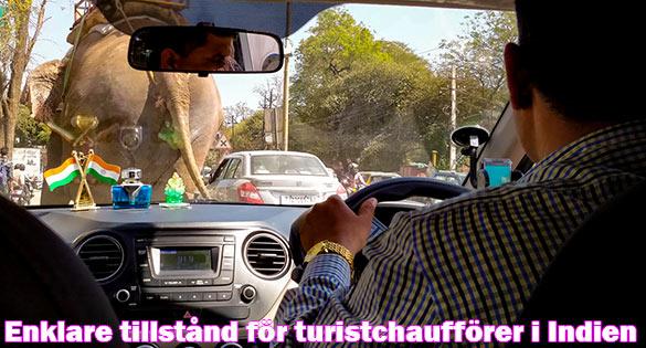 Lättare att få tillstånd för turistchaufförer i Indien